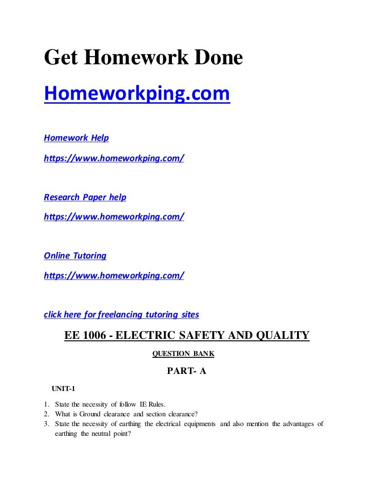 question bank ee electric safety and quality