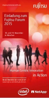 Human Centric Innovation in Action - Einladung zum Fujitsu Forum 2015