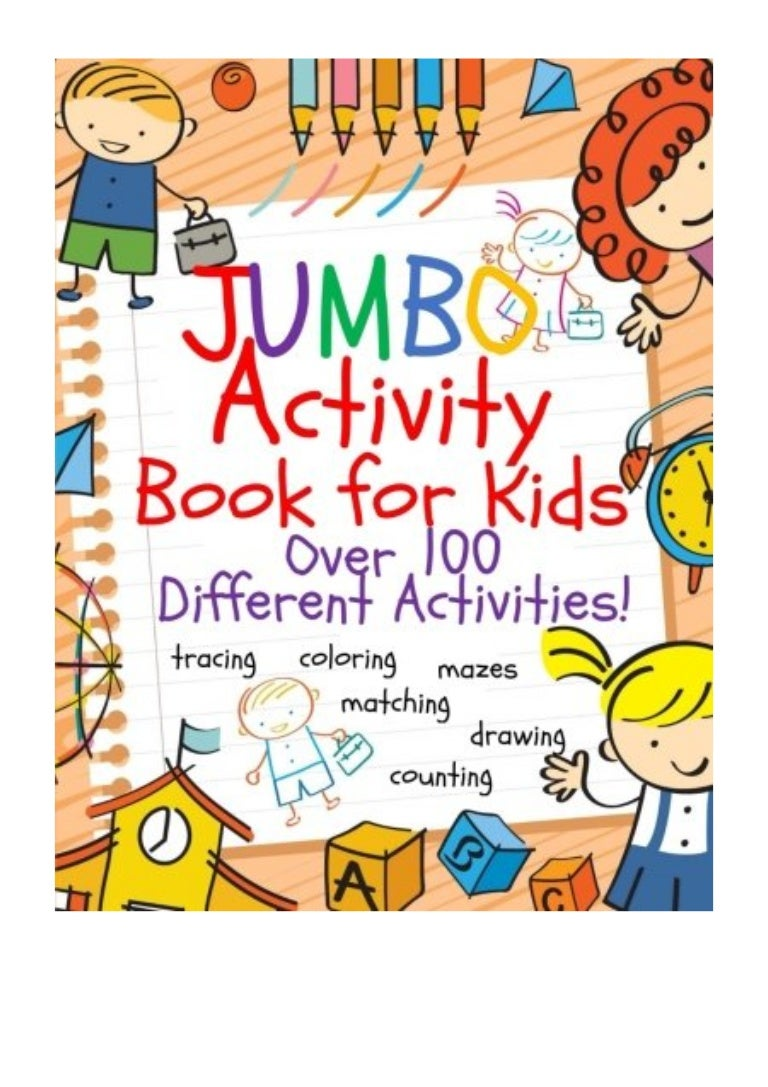 Jumbo Activity Book For Kids Busy Hands Books Jumbo Coloring Boo