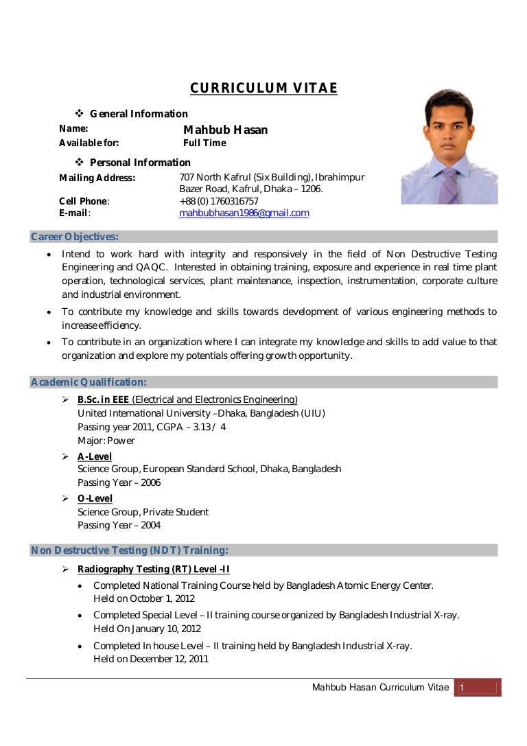 Sample For Curriculum Vitae on formato de, resume or, ejemplos de, high school, what is,