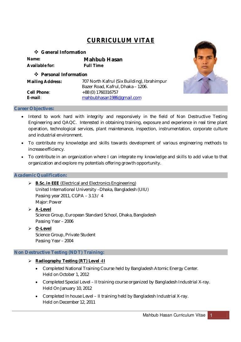 mahbub hasan curriculum vitae updated
