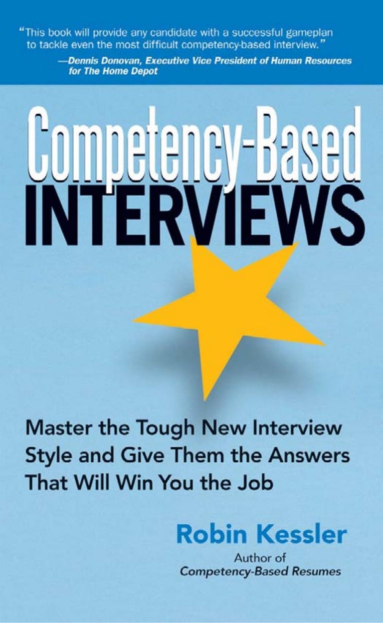 competency based interview questions competency based interview