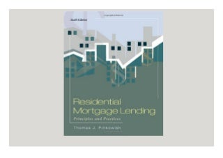 download✔ Residential Mortgage Lending Principles and Practices