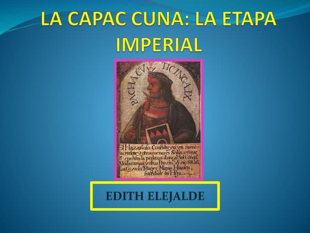ETAPA IMPERIAL INCAICA