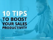 10 Sales Tips For Improving Your Productivity