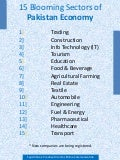 15 Growing Sectors of Pakistani Economy