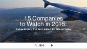 15 Startups to Watch in 2015 -2016 by Brian Solis
