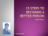 15 Steps to Becoming a Better Person