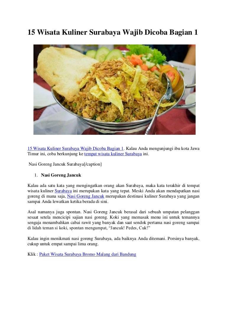 15 Wisata Kuliner Surabaya Wajib Dicoba Bagian 1