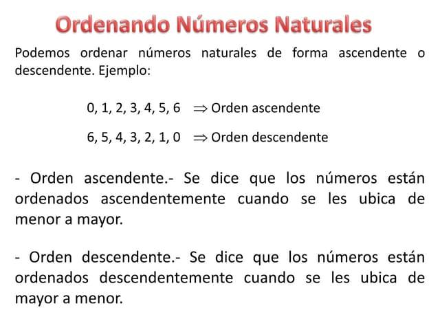 Ordenando Números Naturales