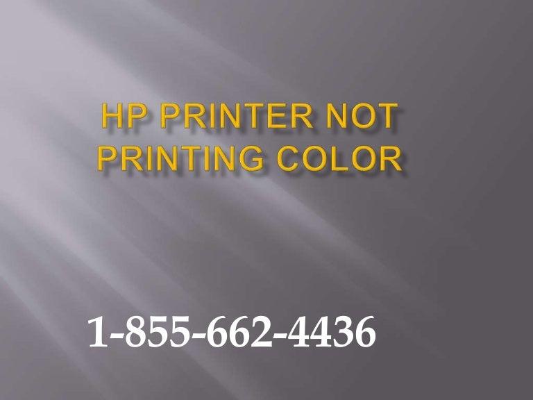 1-855-662-4436###### HP Printer not printing Color-HP Printer n…