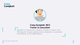 SearchLeeds 2018 - Craig Campbell - How to fix the most common technical SEO issues
