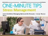 One-Minute Tips: Stress Management