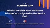 Mission Possible: How VMware's Private Cloud Migrated to Jira Service Desk