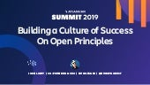 Building a Culture of Success on Open Principles