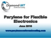 Parylene for Flexible Electronics