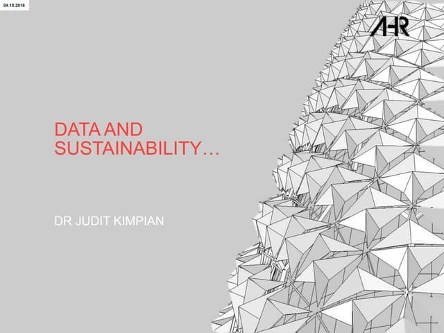 Delivering Sustainability Digitally - Data & Sustainability