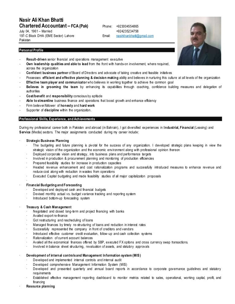 Resume - Nasir Ali Khan