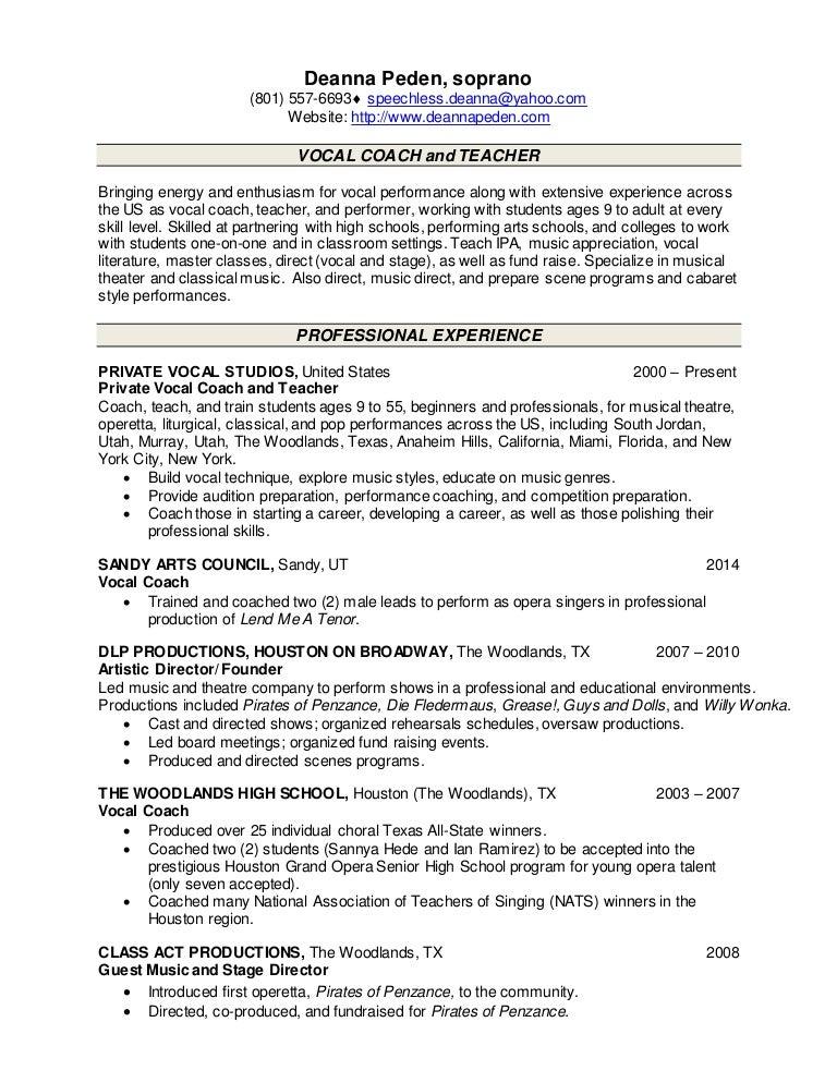 teaching resume peden 2015