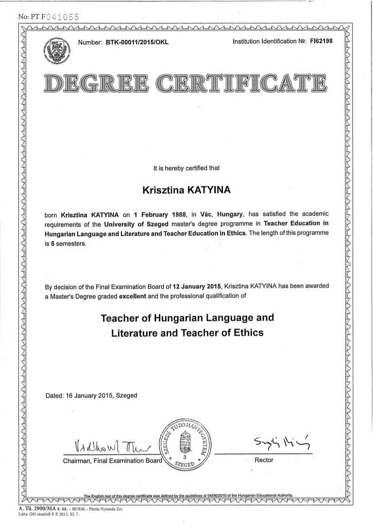 ma diploma