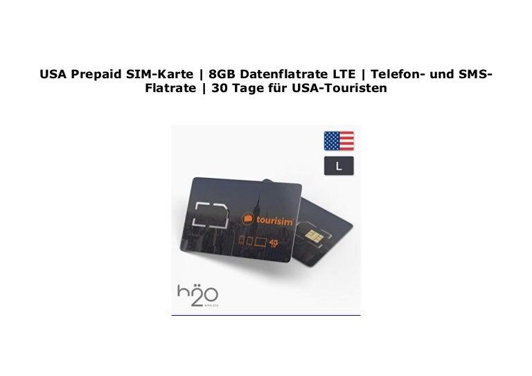 Usa Prepaid Sim Karte 8gb Datenflatrate Lte Telefon Und Sms Flat