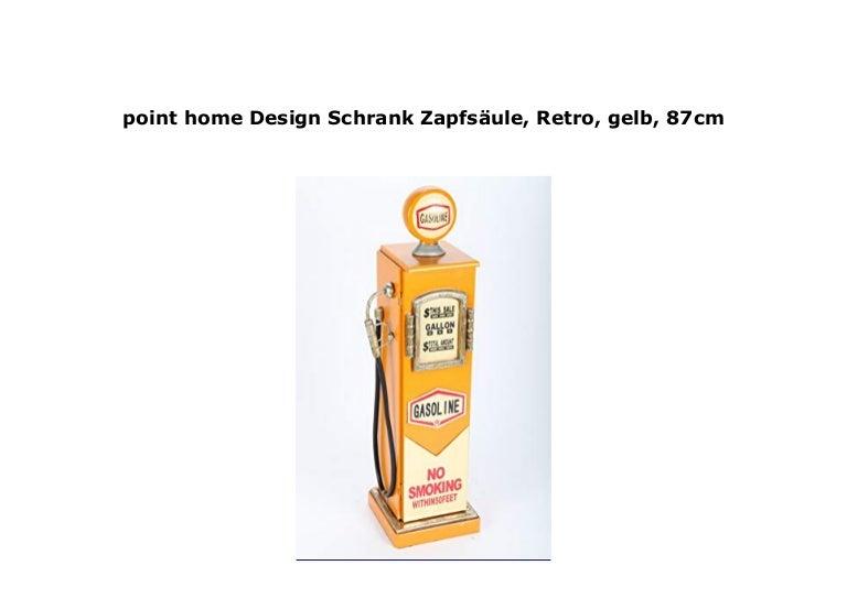 Point Home Design Schrank Zapfs Ule Retro Gelb 87cm