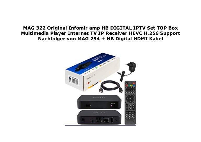 MAG 322 Original Infomir amp HB DIGITAL IPTV Set TOP Box Multimedia …