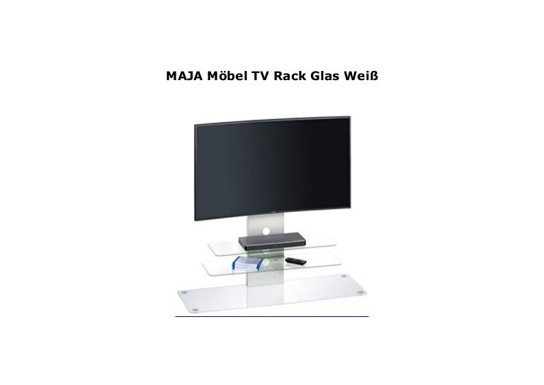 MAJA M bel TV Rack Glas Wei