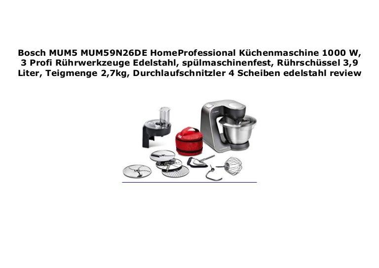 Bosch Durchlaufschnitzler black mit Scheiben für Küchenmaschinen Serie MUM5...