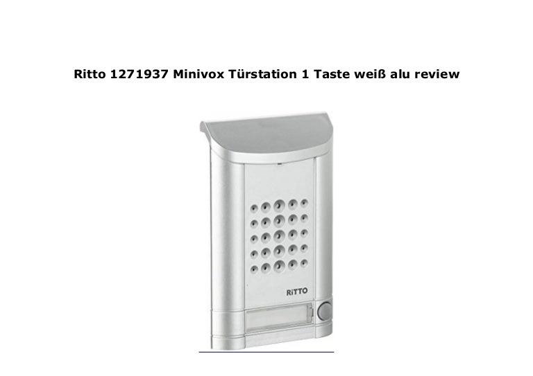 Ritto Minivox Türstation 1271937 1 Taste weiss alu