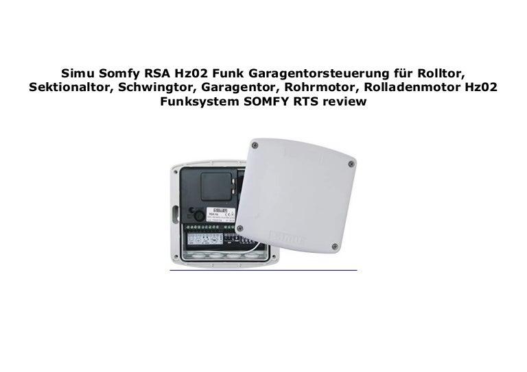 schnüren in Schlussverkauf neueste auswahl Simu Somfy RSA Hz02 Funk Garagentorsteuerung f r Rolltor ...