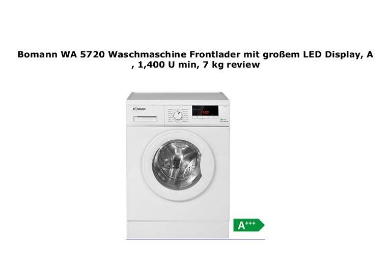 Bomann WA 5720 Waschmaschine Frontlader Mit Gro Em LED Display A