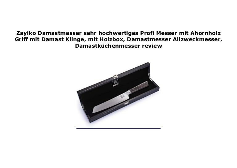 Brotmesser Zayiko Damastmesser mit Ahornholz Griff mit Holzbox