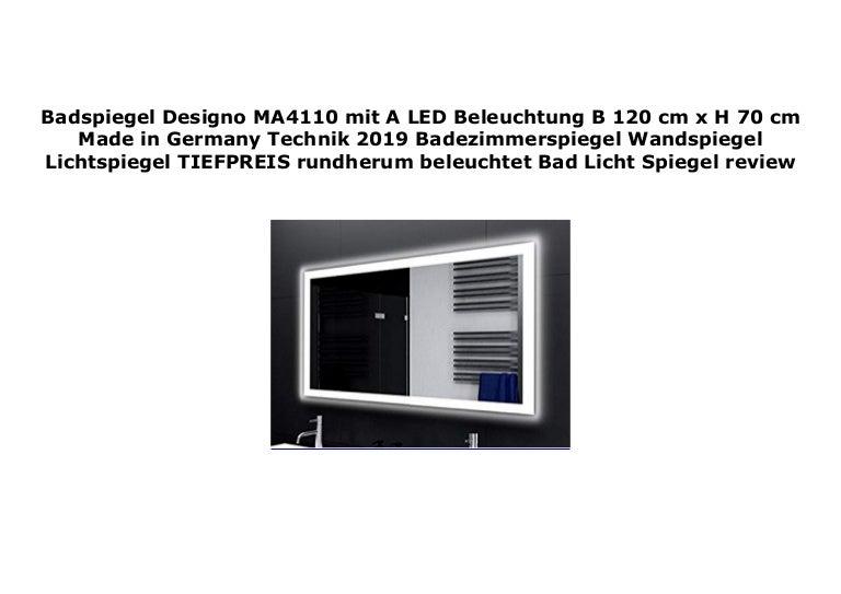 Badezimmerspiegel 120 Cm.Badspiegel Designo Ma4110 Mit A Led Beleuchtung B 120 Cm X H