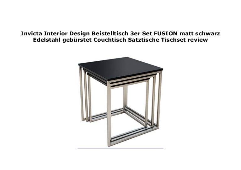 Invicta Interior Design Beistelltisch 3er Set Fusion Matt