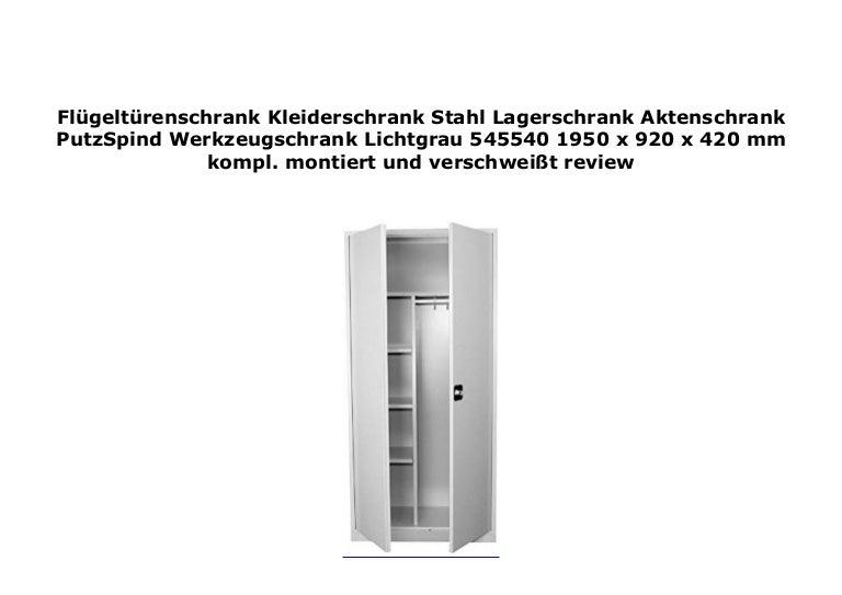 Stahl Aktenschrank Metallschrank Flügeltürenschrank Kleiderschrank Spind 545540