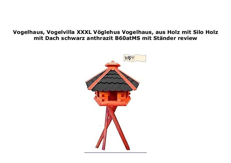 Vogelhaus Vogelvilla Xxxl V Glehus Vogelhaus Aus Holz Mit Silo