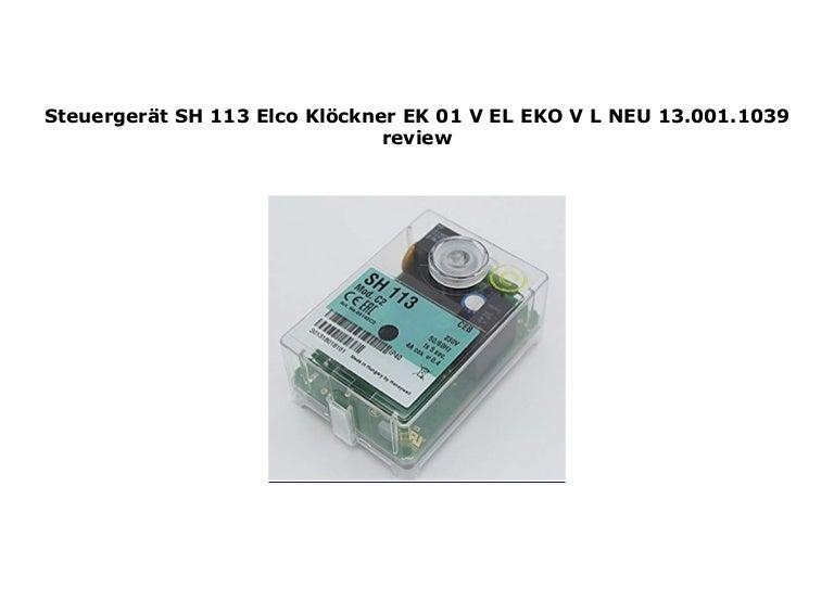 Steuerger/ät SH 113 Elco Kl/öckner EK 01 V-EL EKO V-L NEU 13.001.1039