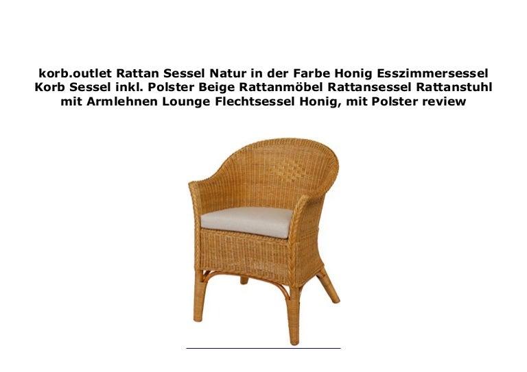 Korb Outlet Rattan Sessel Natur In Der Farbe Honig Esszimmersessel Ko