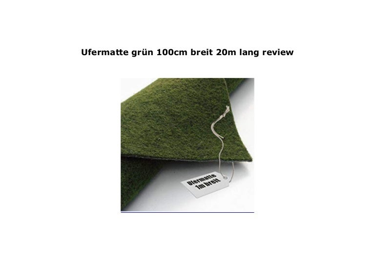 Ufermatte grün 200cm breit25m lang