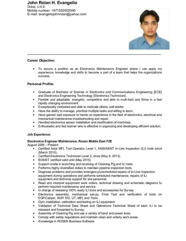 ILI Maintenance Engineer – Maintenance Engineer Job Description