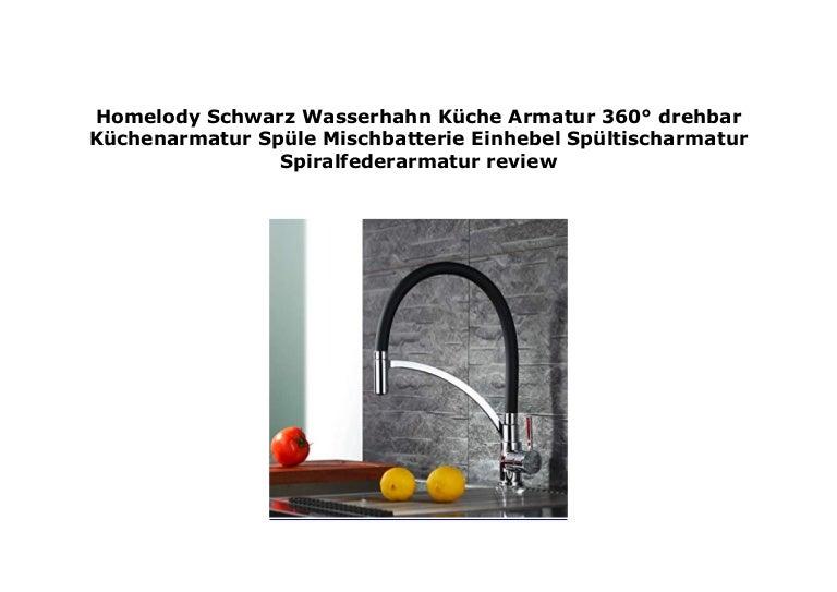Homelody Schwarz Wasserhahn K che Armatur 360 drehbar K ...
