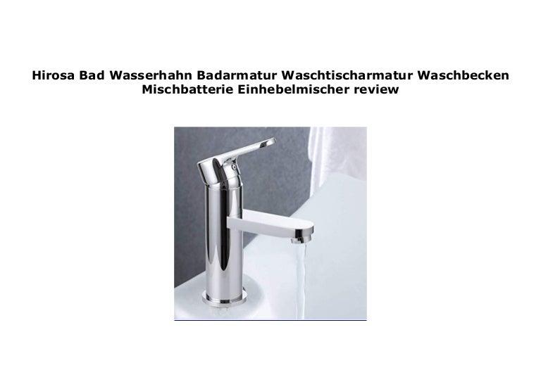 Badarmatur Waschtischamatur Einhebelmischer Wasserhahn Waschbecken Bad