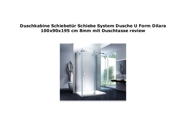 Duschkabine Schiebet R Schiebe System Dusche U Form Dilara 100x90x1