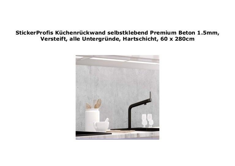 Stickerprofis K Chenr Ckwand Selbstklebend Premium Beton 1 5mm Verst