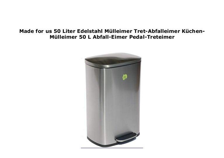5 LITER Edelstahl Pedal Mülleimer Treteimer Badezimmereimer Abfallsammler CHROM