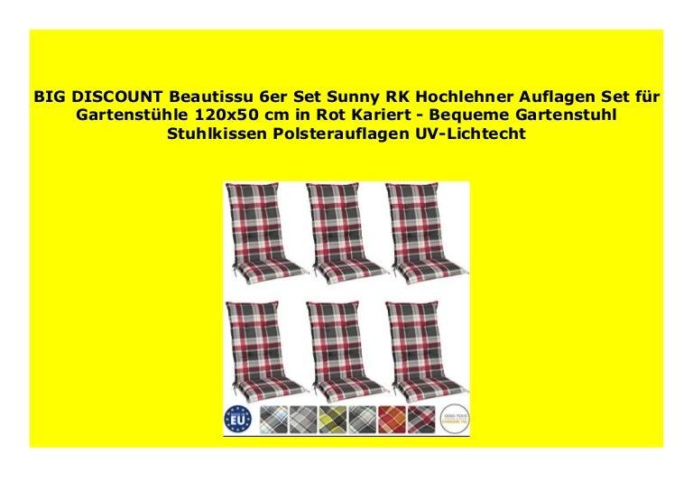 Big Sale Beautissu 6er Set Sunny Rk Hochlehner Auflagen Set