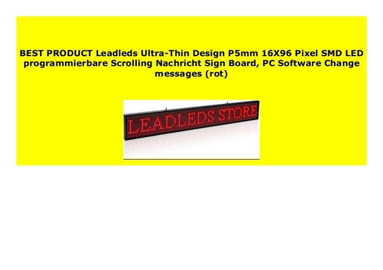 Big Sale Leadleds Ultra Thin Design P5mm 16x96 Pixel Smd Led Programm