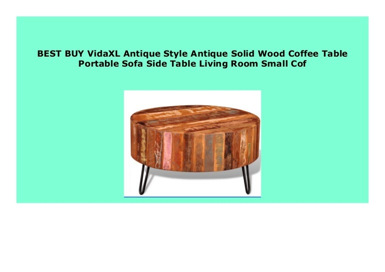 Hot Sale Vidaxl Antique Style Antique Solid Wood Coffee Table Portab