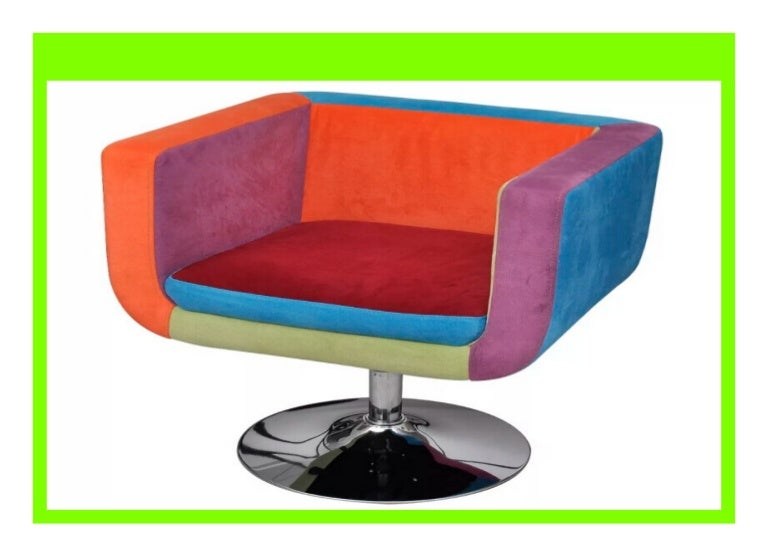 New Vidaxl Cube Armchair With Patchwork Design Fabric Suitable For H